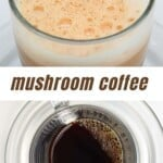 Mushroom latte with frothy milk