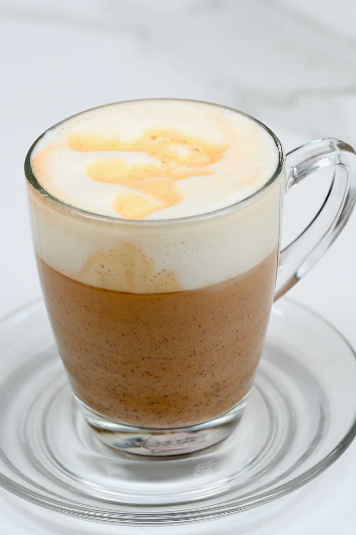 A cup of mushroom cafe latte