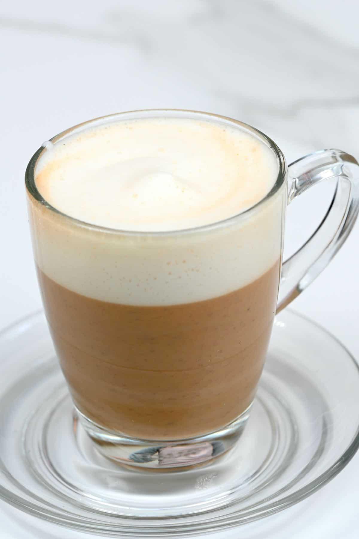Mushroom latte in a cup