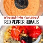 Steps to make Roasted red pepper hummus