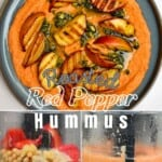 Roasted red pepper hummus and steps to make it
