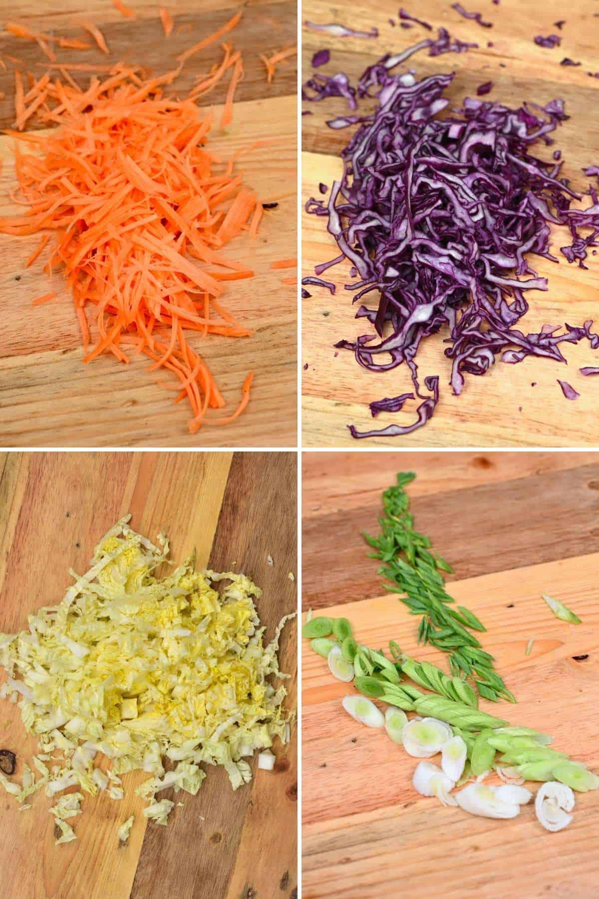 Steps for slicing vegetables