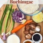 Ingredients to make Korean vegetable pancakes