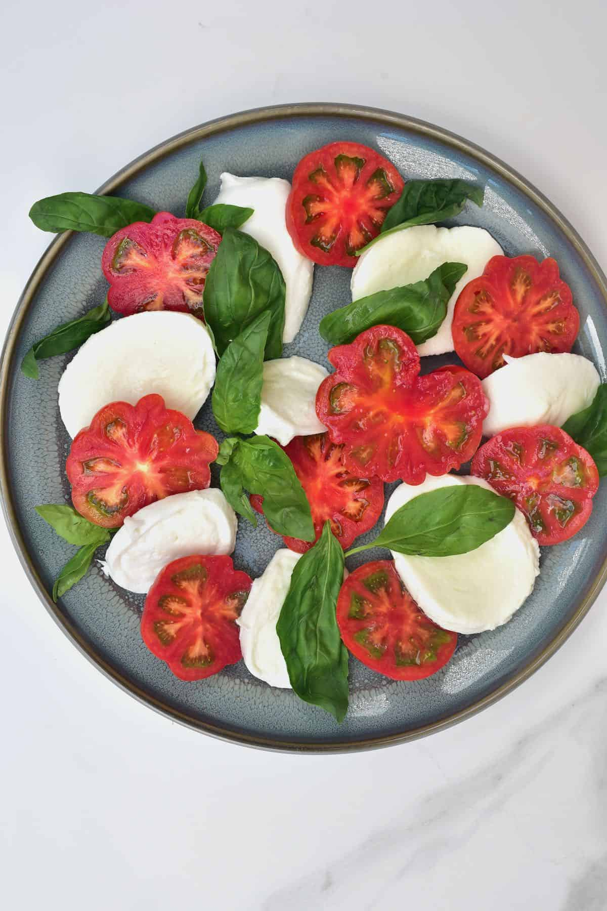 Making a caprese salad