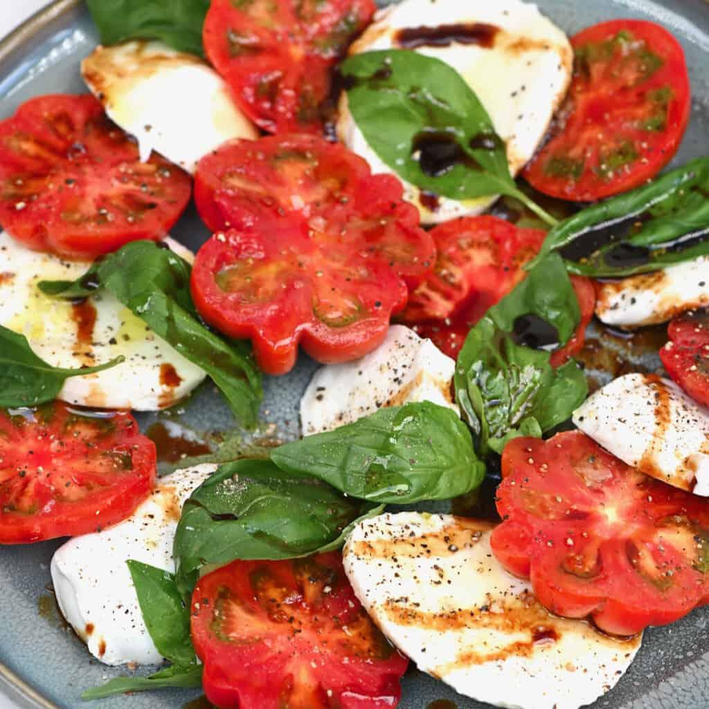 A serving of caprese salad