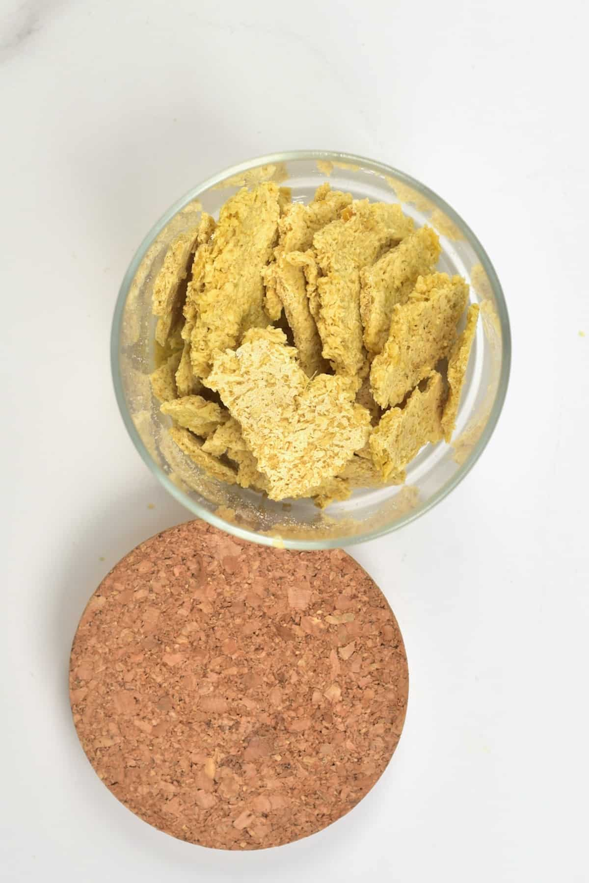 Ginger sugar cookines in a container