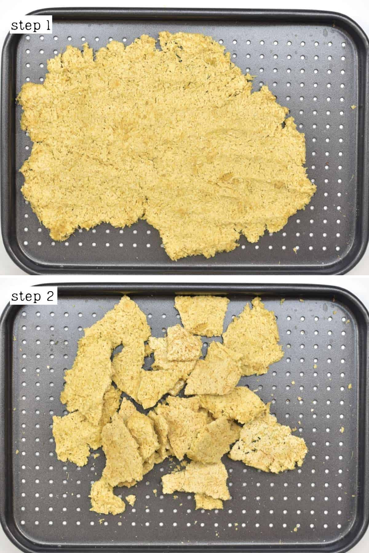 Steps for making ginger sugar cookies
