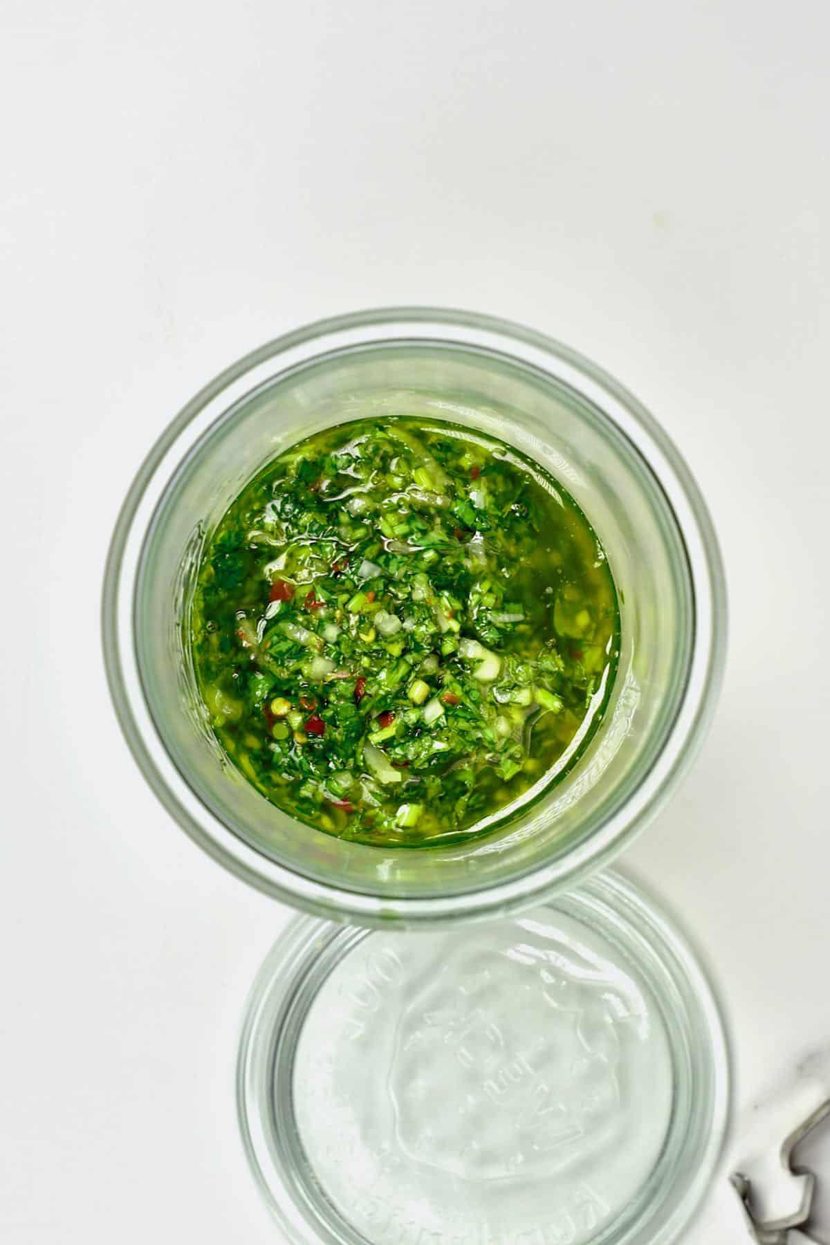 Chimichurri in a jar