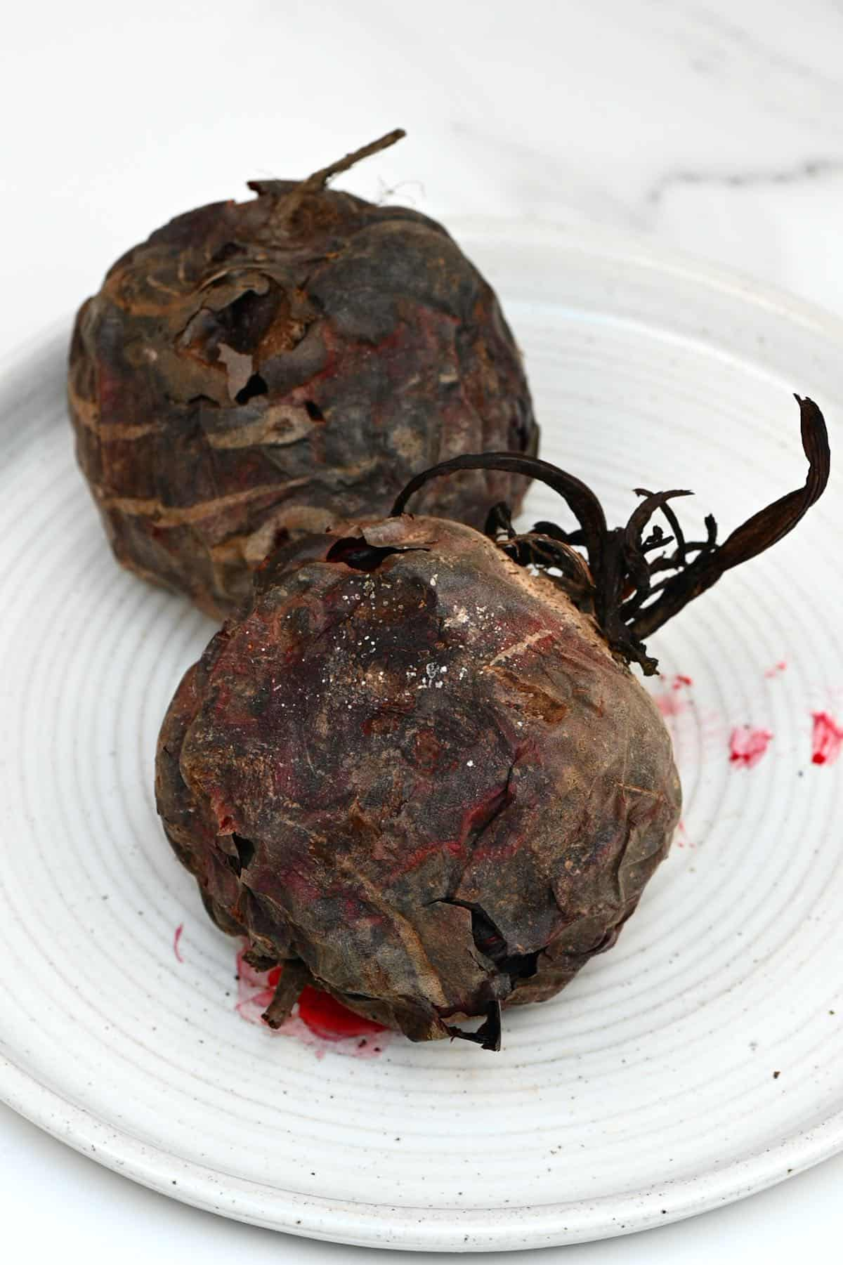 Baked whole beetroot