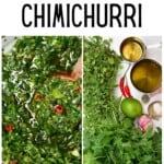 Ingredients to make Chimichurri
