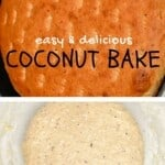 Coconut bake and the dough to make it