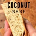 A piece of coconut bake