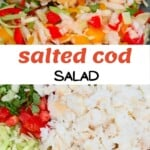 Salted cod salad with coconut bake