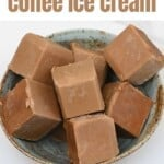 Coffee ice cream frozen cubes