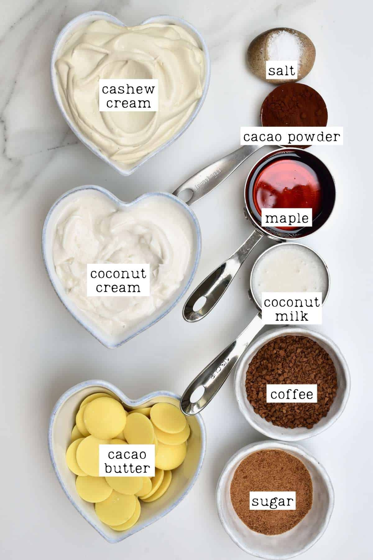 Ingredients for coffee ice cream