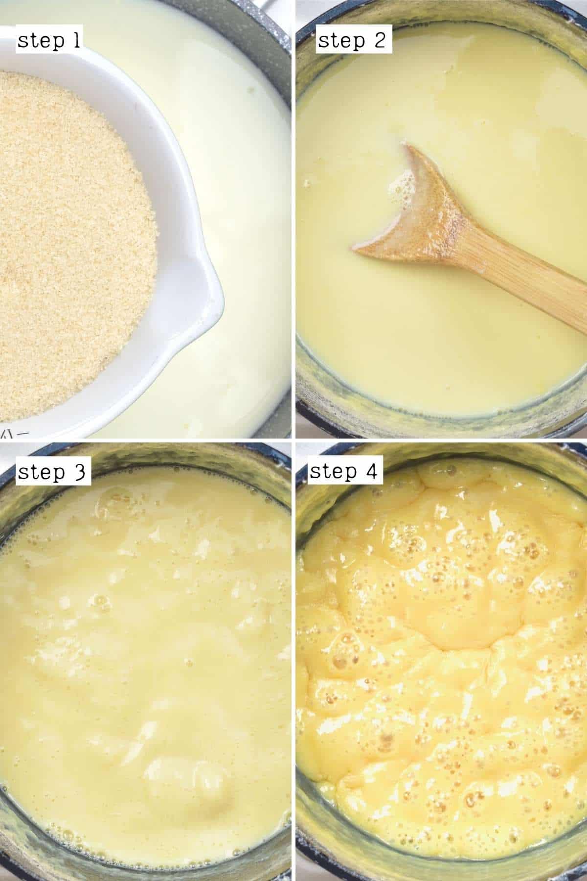 Steps for making condensed milk