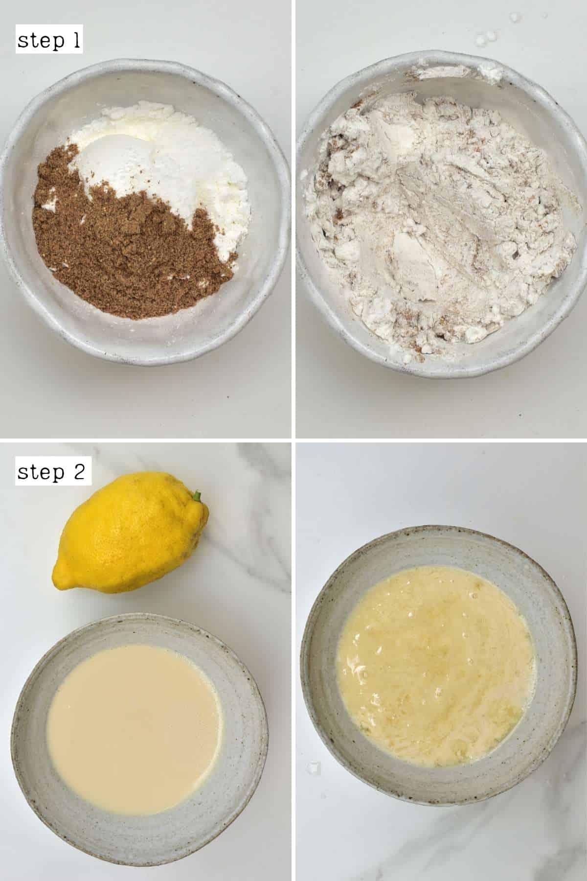 Steps for preparing ingredients for crispy mushrooms