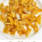 Crystallized ginger on a plate
