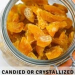 A jar with Crystallized ginger