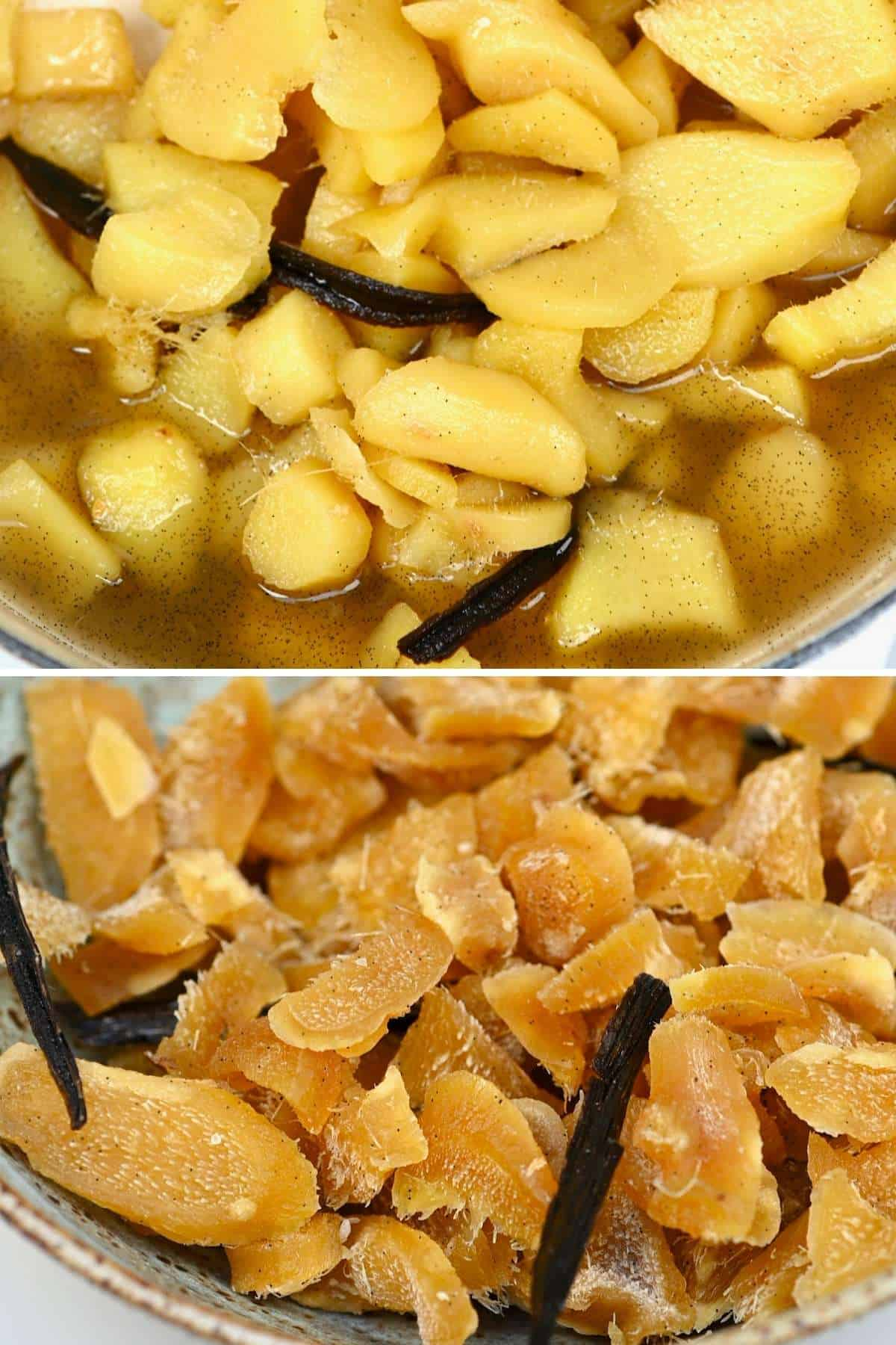 Candied and crystallized ginger