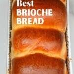 A brioche loaf in a tin