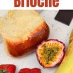 A piece of french brioche