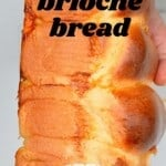 A loaf of French brioche