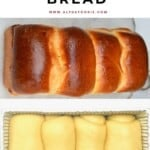 A French brioche and an unbaked one