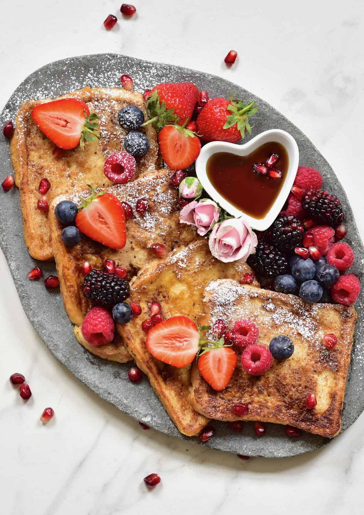 French toast with pullman slices
