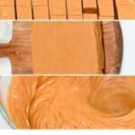 Steps to make homemade caramel fudge