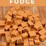 Homemade fudge cut into cubes