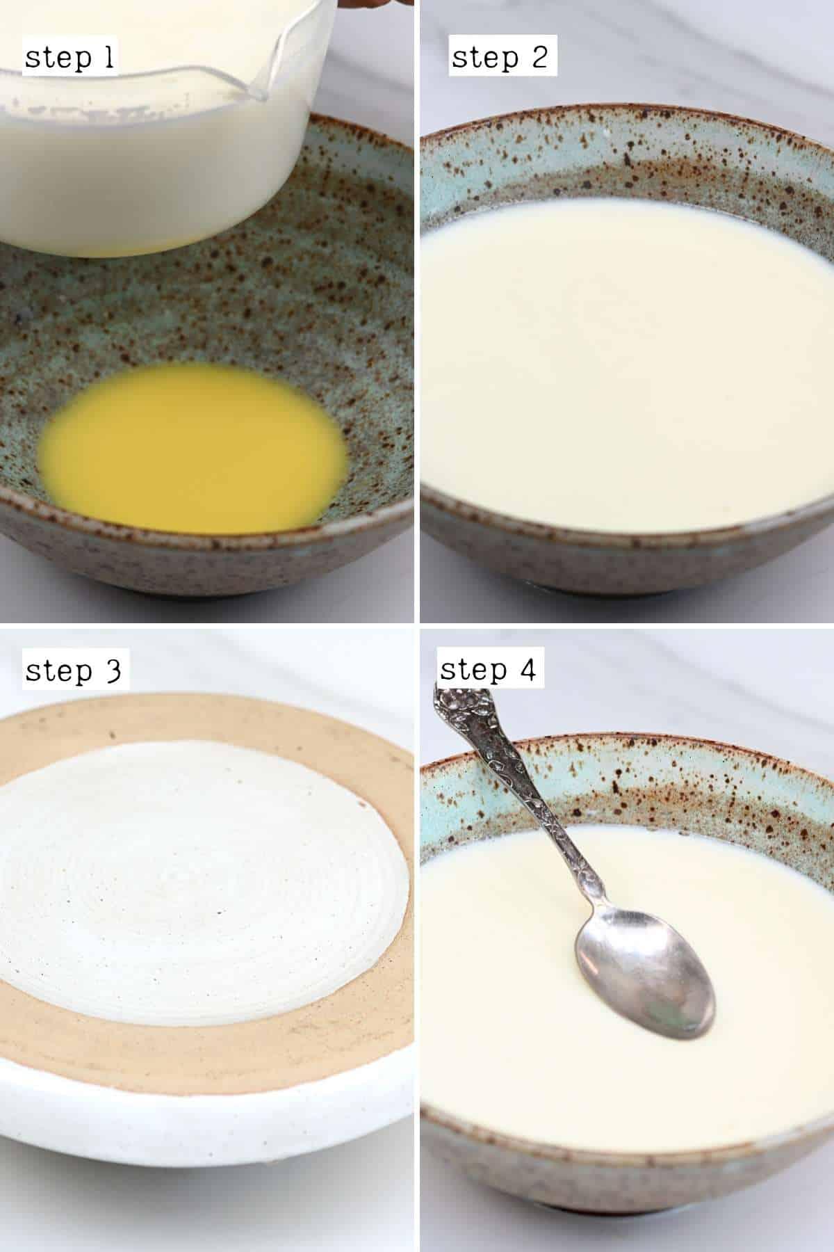 Steps for preparing ginger pudding