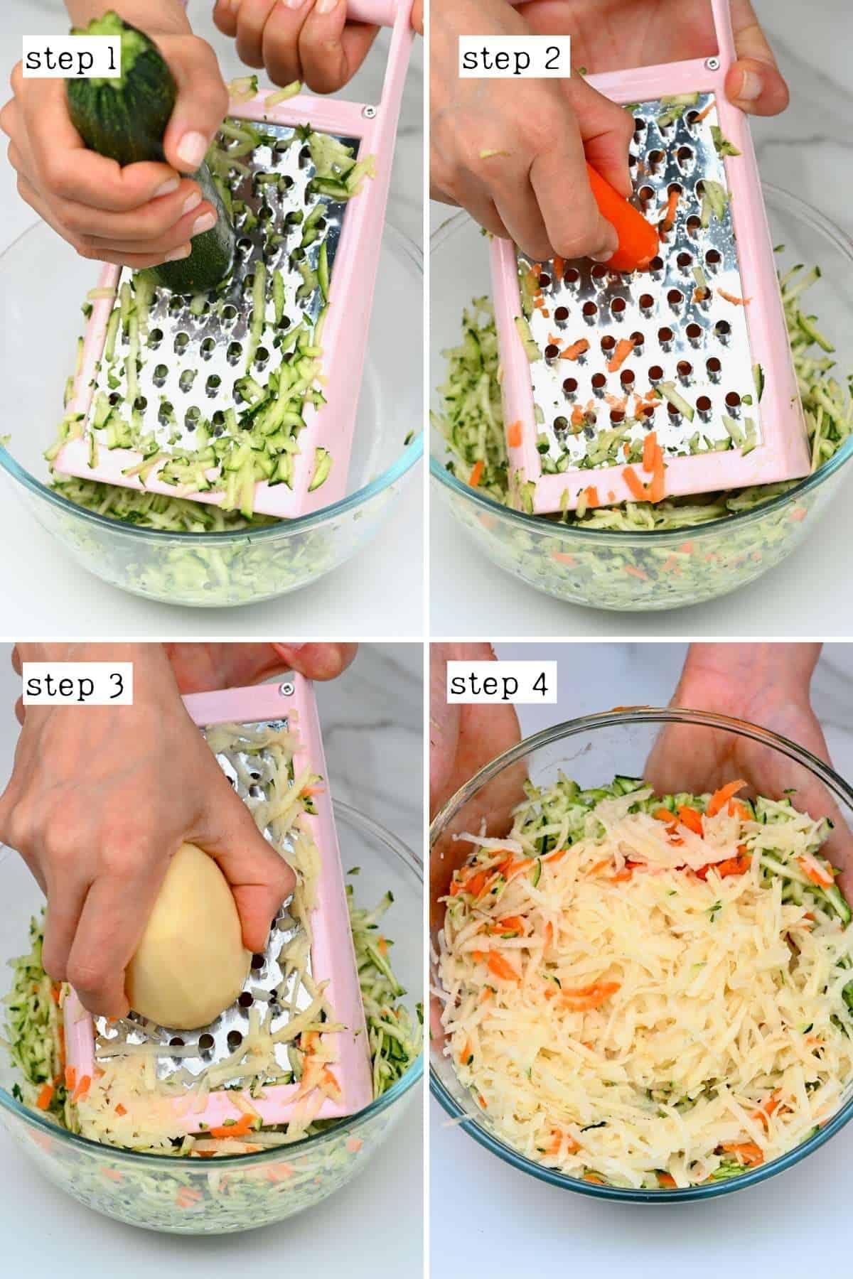 Steps for grating veggies