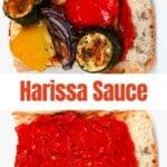 Harissa Sauce on a sandwich with roasted veggies