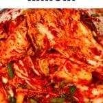 Napa cabbage kimchi
