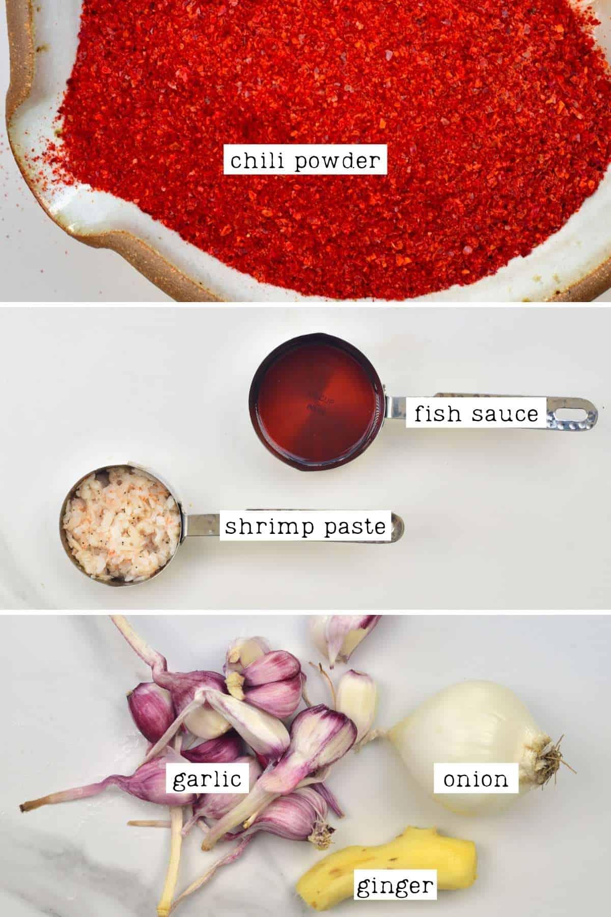 Kimchi seasoning ingredients