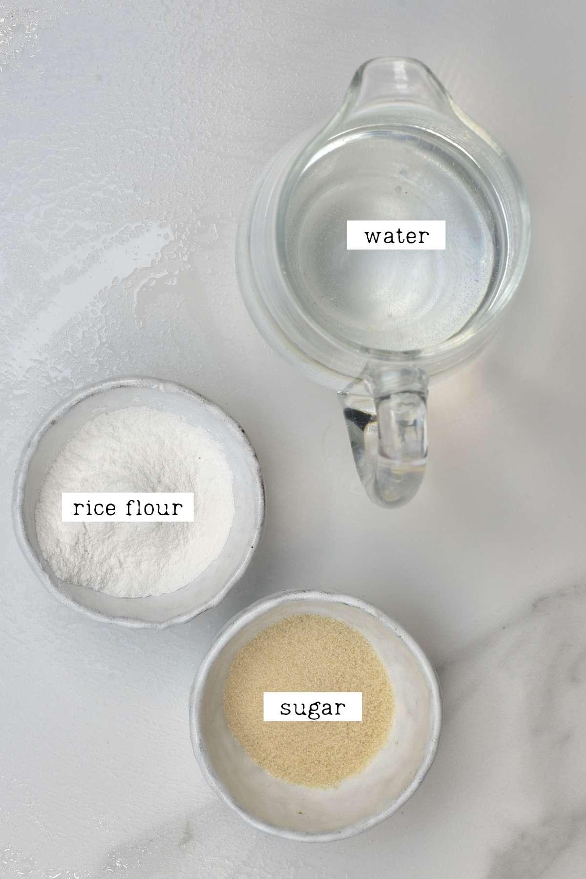 Porridge ingredients for kimchi