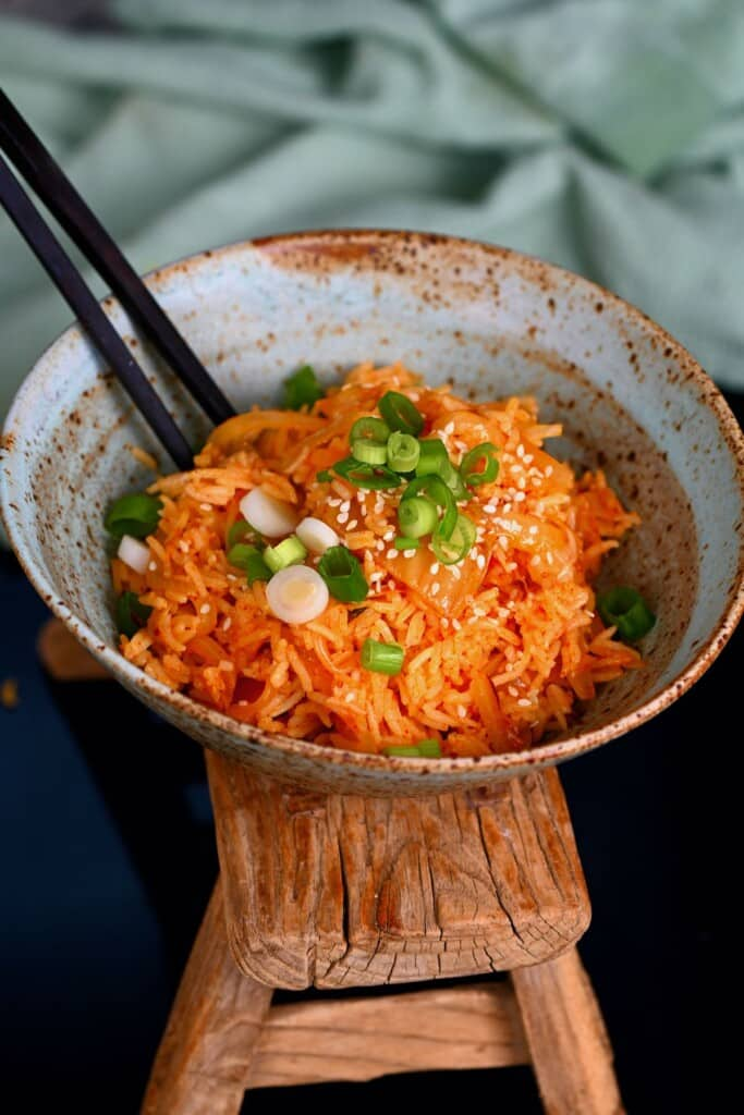 A serving of kimchi fried rice