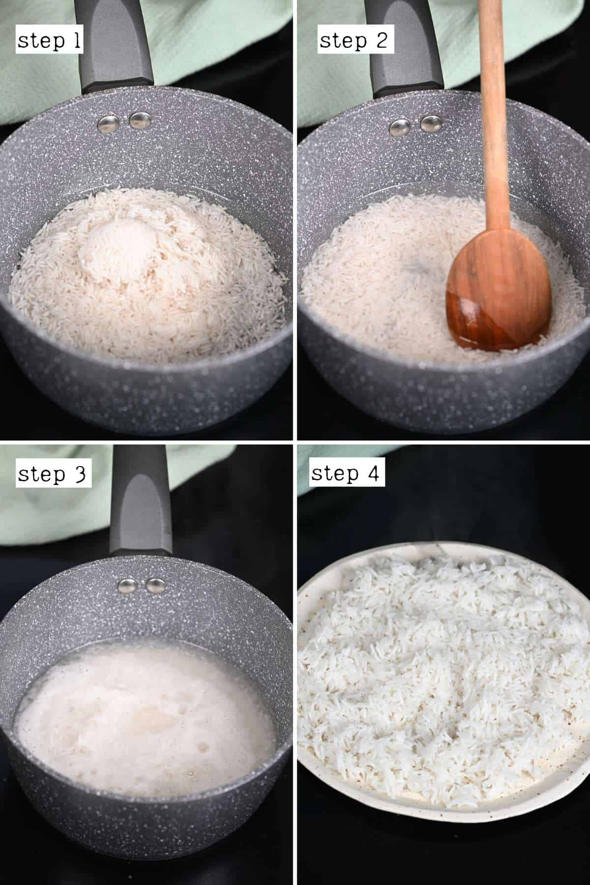 Steps for cooking rice