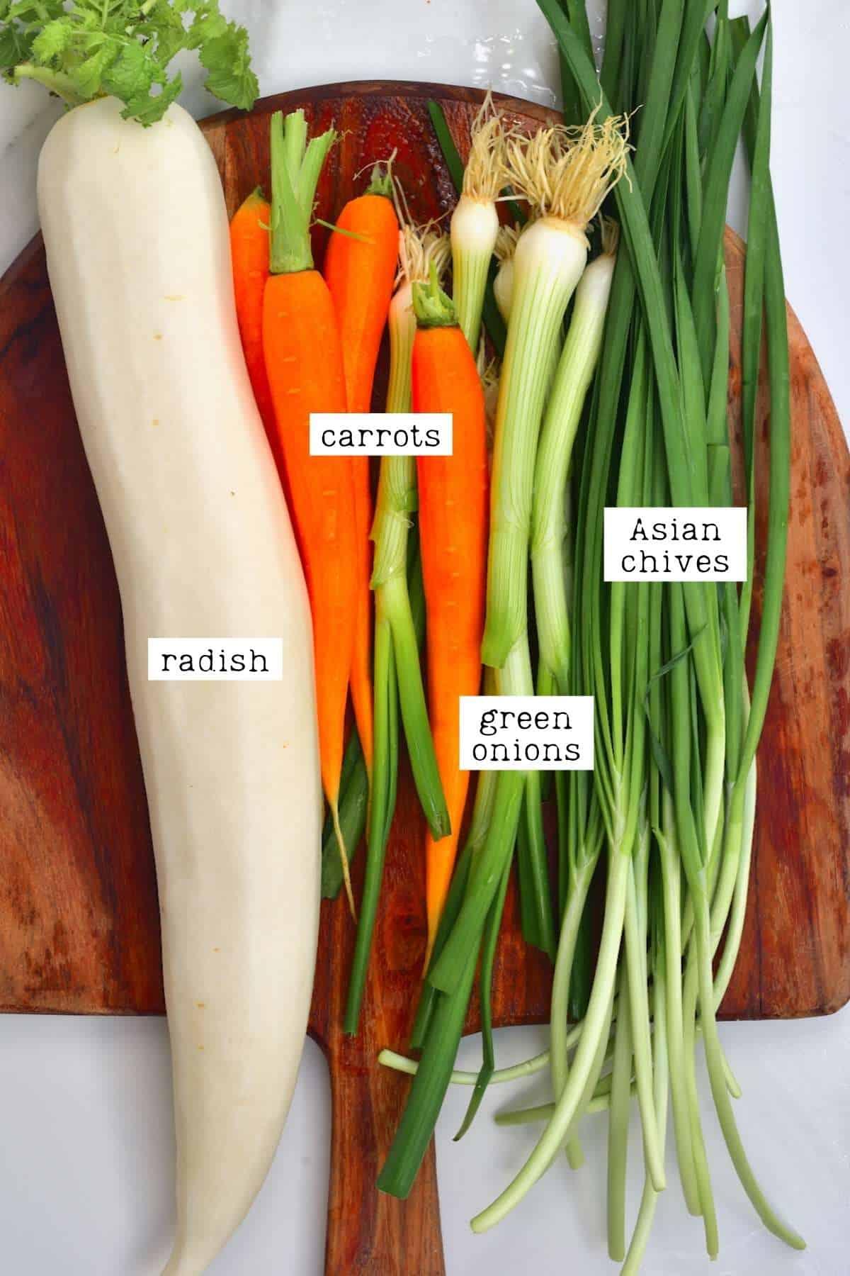 Vegetables for kimchi