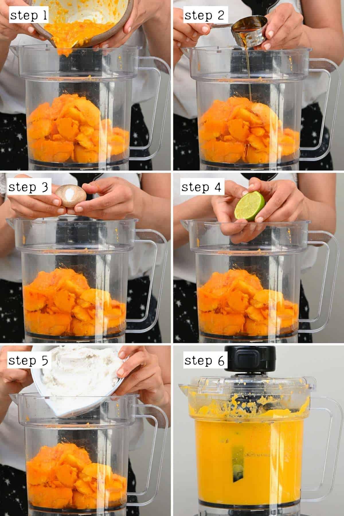Steps for preparing base for mango ice cream