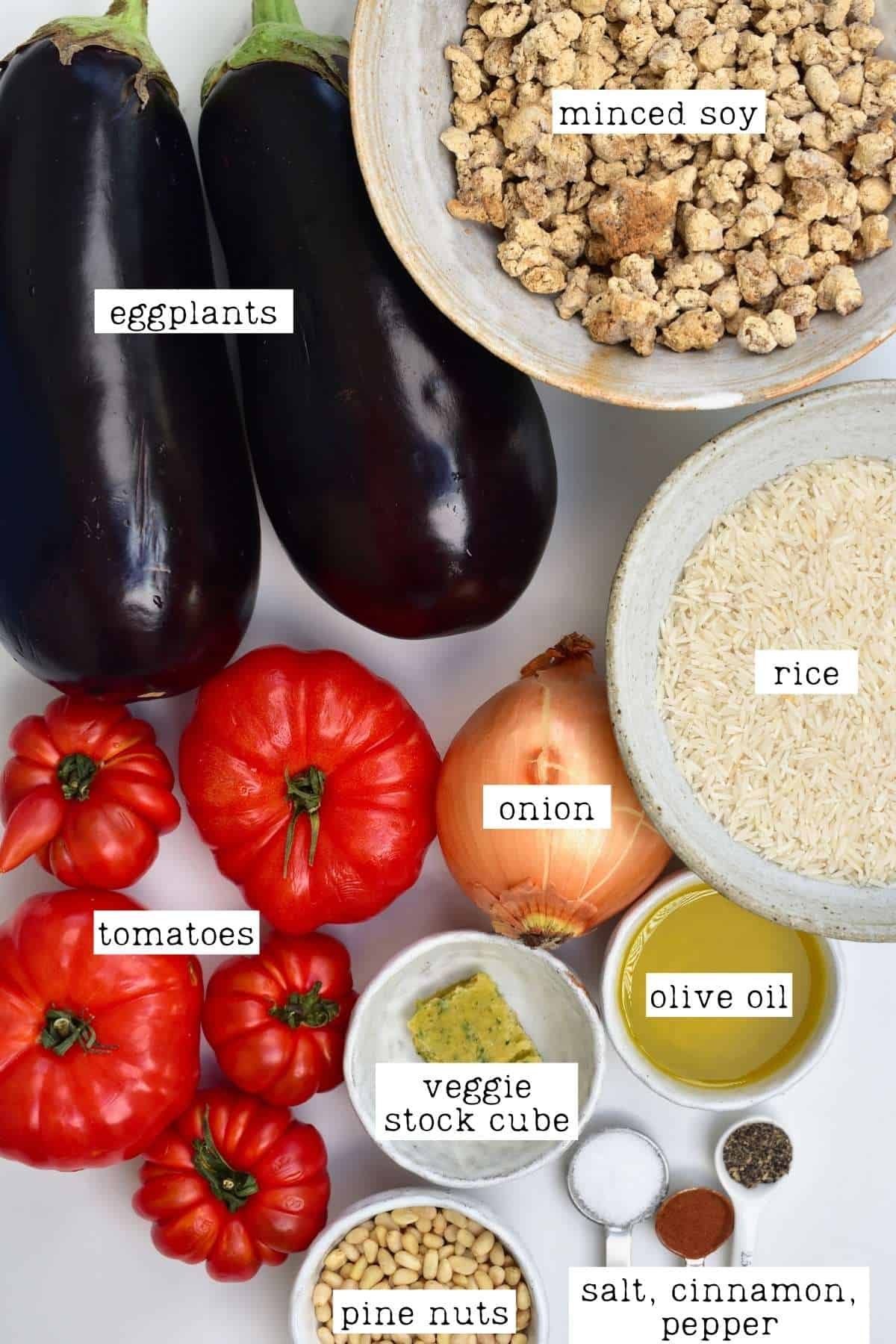 Ingredients for maqluba