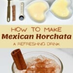 Ingredients to make Mexican Horchata