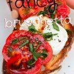 Tomato and mozzarella bruschetta