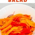 Roasted pepper salad in a bowl