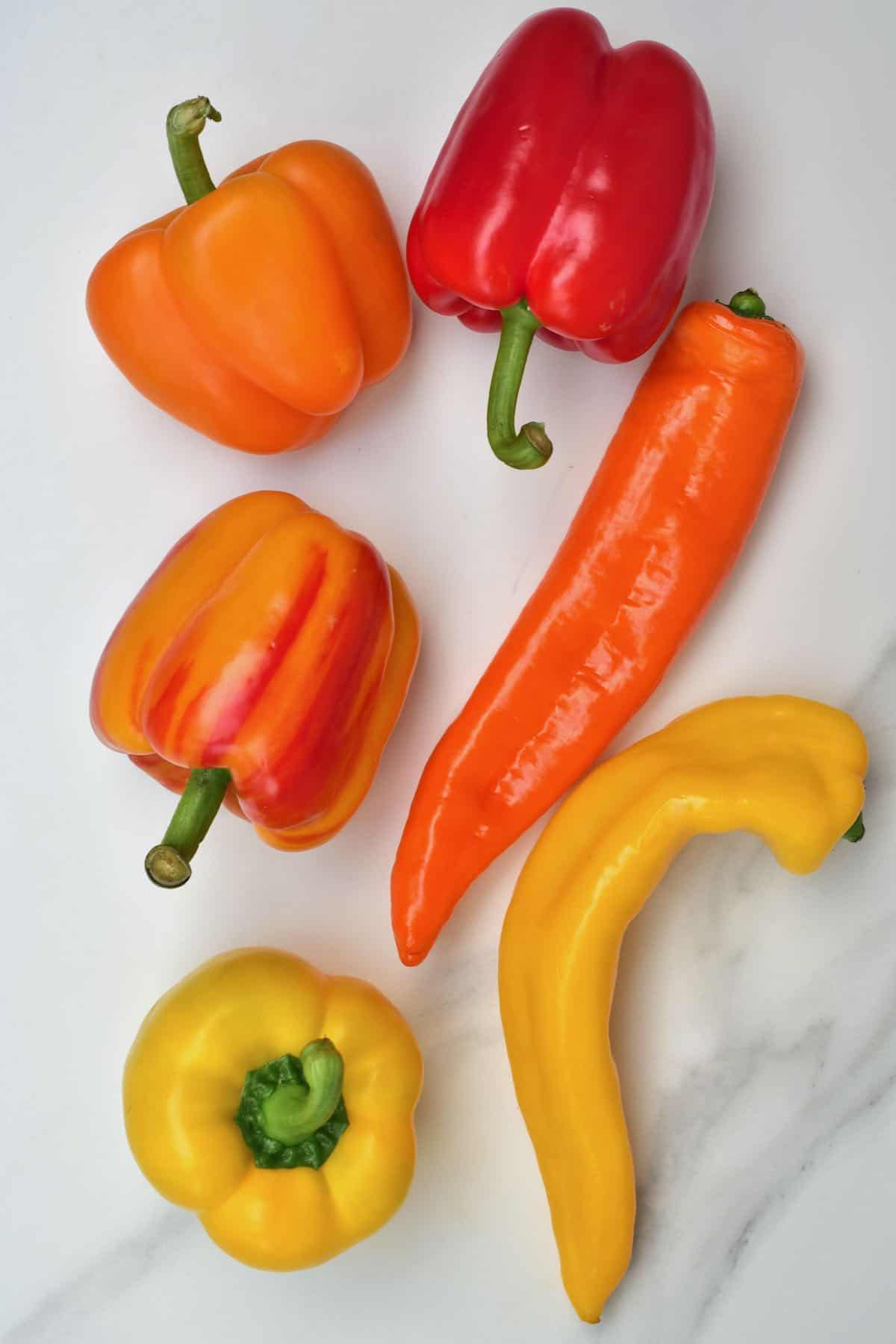 A selection of colorful peppers