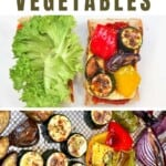Roasted vegetables on a sandwich