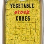 Vegetable stock cubes in a container