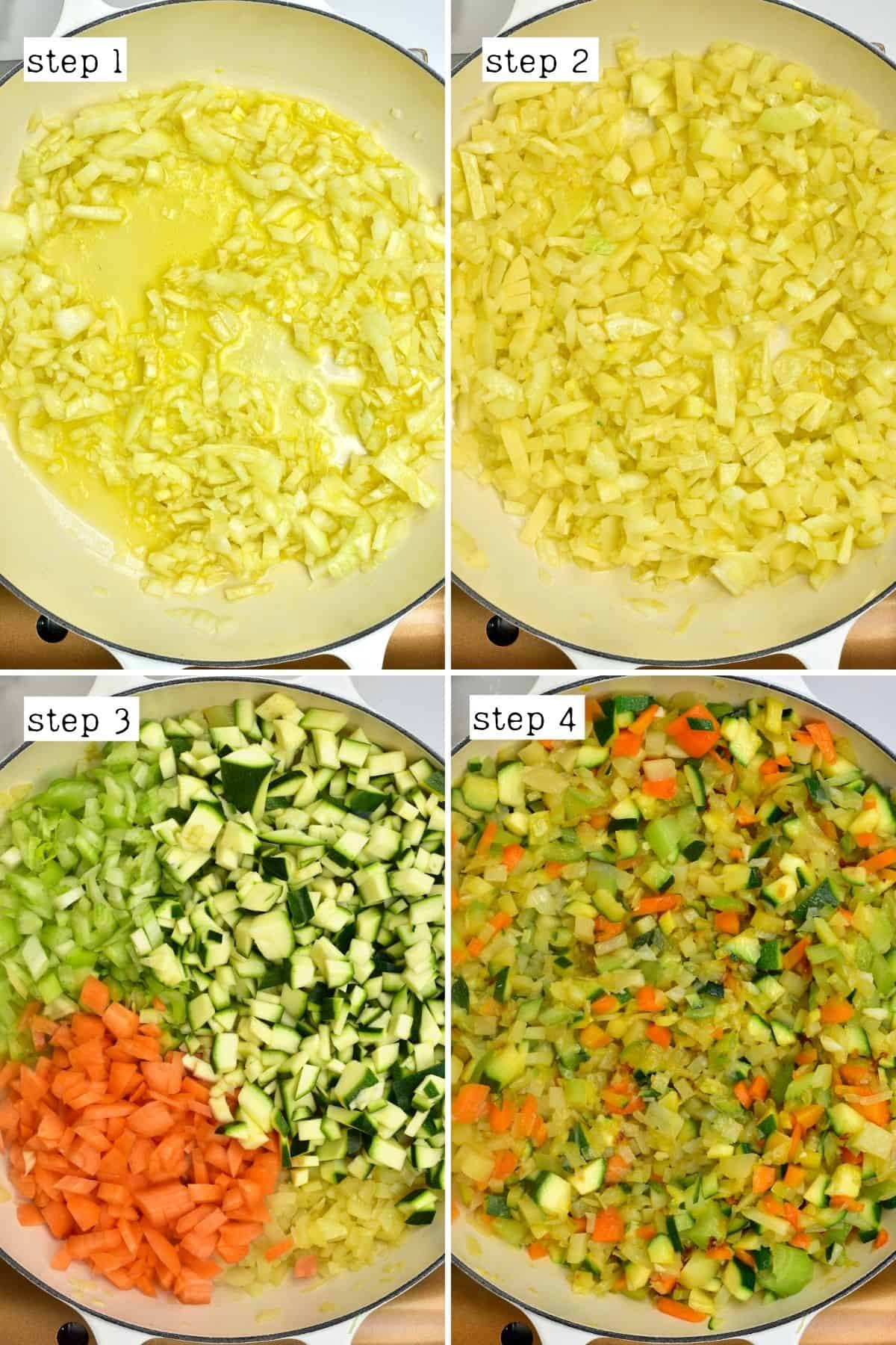 Steps for cooking vegetables