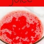 Watermelon juice in a bowl